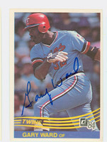 Gary Ward AUTOGRAPH 1984 Donruss #192 Twins 
