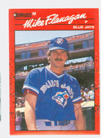 Mike Flanagan AUTOGRAPH d.11 1990 Donruss Blue Jays 