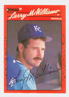 Larry McWilliams AUTOGRAPH 1990 Donruss Royals 