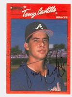 Tony Castillo AUTOGRAPH 1990 Donruss Braves 