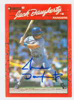 Jack Daugherty AUTOGRAPH 1990 Donruss Rangers 