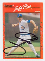 Jeff Pico AUTOGRAPH 1990 Donruss Cubs 