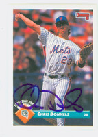 Chris Donnels AUTOGRAPH 1993 Donruss Mets 