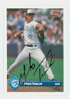 Mike Timlin AUTOGRAPH 1993 Donruss Blue Jays 