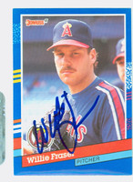 Willie Fraser AUTOGRAPH 1991 Donruss Angels 