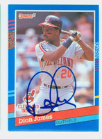 Dion James AUTOGRAPH 1991 Donruss Indians 