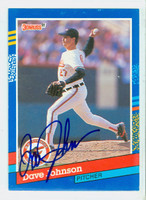 Dave Johnson AUTOGRAPH 1991 Donruss Orioles 