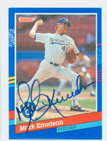 Mark Knudson AUTOGRAPH 1991 Donruss Brewers 