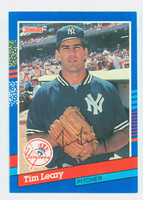 Tim Leary AUTOGRAPH 1991 Donruss Yankees 