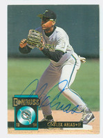 Alex Arias AUTOGRAPH 1994 Donruss Marlins 