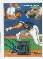 Tomas Perez AUTOGRAPH 1996 Donruss Blue Jays 