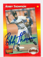 Robby Thompson AUTOGRAPH 1992 Donruss Triple Play Giants 