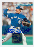 Woody Williams AUTOGRAPH 1996 Donruss Blue Jays 
