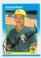 Rafael Belliard AUTOGRAPH 1987 Fleer #602 Pirates ROOKIE 