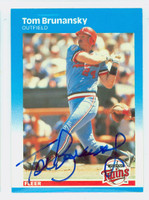 Tom Brunansky AUTOGRAPH 1987 Fleer #537 Cardinals 