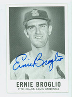 Ernie Broglio AUTOGRAPH 1960 Leaf #41 Cardinals CARD IS CLEAN EX