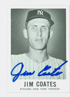 Jim Coates AUTOGRAPH 1960 Leaf #35 Yankees CARD IS CLEAN EX