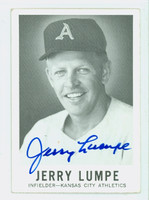 Jerry Lumpe AUTOGRAPH d.14 1960 Leaf #47 Athletics CARD IS VG; CRN WEAR, MARK ON REVERSE