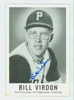 Bill Virdon AUTOGRAPH 1960 Leaf #40 Pirates CARD IS VG; CRN WEAR, MARK ON REVERSE