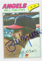 Bill Melton AUTOGRAPH 1977 Topps #107 Angels 
