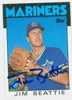 Jim Beattie AUTOGRAPH 1986 Topps Mariners 