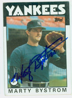 Marty Bystrom AUTOGRAPH 1986 Topps Yankees   [SKU:BystM6094_T86BB]