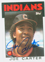 Joe Carter AUTOGRAPH 1986 Topps Indians 