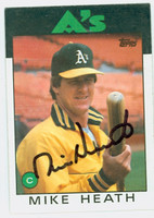 Mike Heath AUTOGRAPH 1986 Topps #148 Athletics 