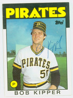 Bob Kipper AUTOGRAPH 1986 Topps Traded Pirates 