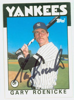 Gary Roenicke AUTOGRAPH 1986 Topps Traded Yankees 