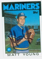 Matt Young AUTOGRAPH 1986 Topps #676 Mariners 