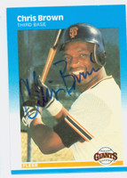 Chris Brown AUTOGRAPH d.06 1987 Fleer Giants 