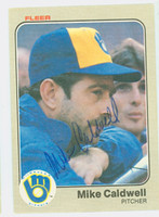 Mike Caldwell AUTOGRAPH 1983 Fleer Brewers 