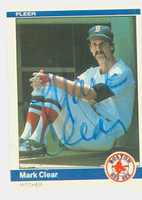 Mark Clear AUTOGRAPH 1984 Fleer #395 Red Sox 