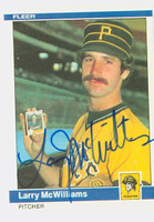 Larry McWilliams AUTOGRAPH 1984 Fleer #256 Pirates 