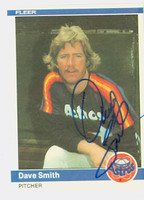 Dave Smith AUTOGRAPH d.08 1984 Fleer #242 Astros 