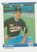 Tim Teufel AUTOGRAPH 1984 Fleer #574 Twins 