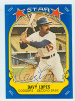Dave Lopes AUTOGRAPH Star Sticker Dodgers  [SKU:LopeD5022_STAR]