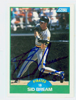 Sid Bream AUTOGRAPH 1989 Score Pirates 