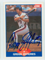 Gregg Jefferies AUTOGRAPH 1989 Score Mets 