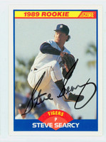 Steve Searcy AUTOGRAPH 1989 Score Tigers 