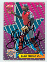 Sandy Alomar Jr AUTOGRAPH 1992 Score Proctor and Gamble Indians 