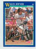 Wally Joyner AUTOGRAPH 1991 Score Angels 