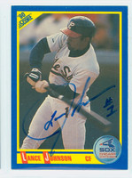 Lance Johnson AUTOGRAPH 1990 Score White Sox 