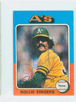Rollie Fingers AUTOGRAPH 1975 Topps Mini Athletics 