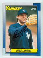 Dave LaPoint AUTOGRAPH 1990 Topps Yankees 