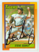 Steve Searcy AUTOGRAPH 1990 Topps Tigers 