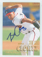 Brad Clontz AUTOGRAPH 1997 Fleer Braves 