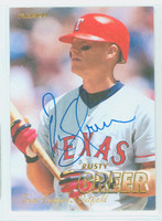 Rusty Greer AUTOGRAPH 1997 Fleer Rangers 