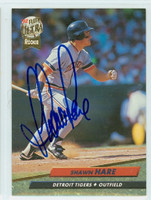 Shawn Hare AUTOGRAPH 1992 Fleer Ultra Tigers 